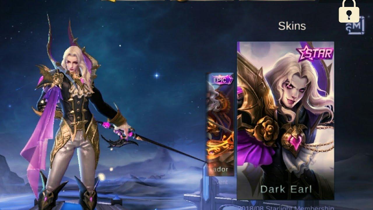 New Upcoming Starlight Member Skin Lancelot Dark Earl Youtube