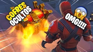 FIVE SECRET COFRES IN FORTNITE YOU DON'T KNOW