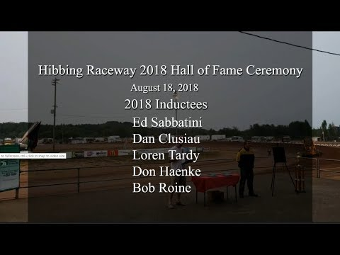 Hibbing Raceway 2018 Hall of Fame Induction Ceremony