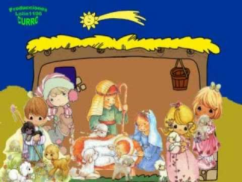 Canci n de navidad villancico en el portal de bel n - Figuras belen infantil ...