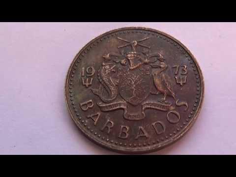 A 1973 Barbados 5 Cent Coin