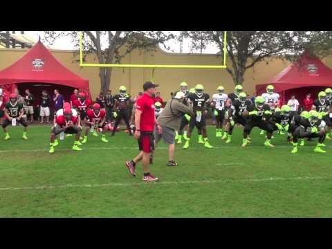 Todd Durkin Warms Up Under Armour High School All-American Football Players