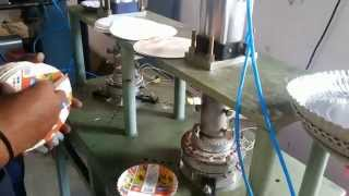 pnumatic paper plate making machine
