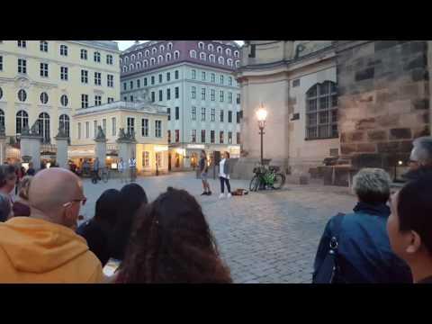 Hallelujah Opera singing in Downtown Dresden Germany