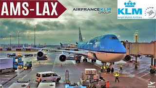 KLM BOEING 747-400 AMSTERDAM - LOS ANGELES [ECONOMY] TripReport KL601 FullHD 60fps