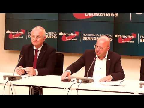 Andreas Kalbitz AfD-Fraktion Brandenburg zum Koaltitionsvertrag der neuen Einheitspartei in Potsdam