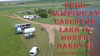 Free Camping at Gas¢oyne Lake in North Dakota!