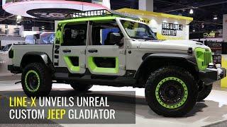 Full LINE-X Exterior Spray on Jeep Gladiator