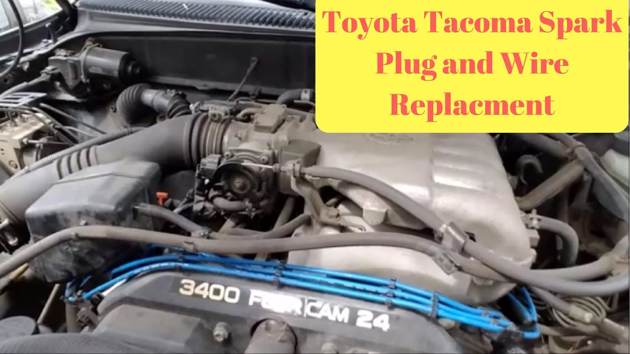 1995 2004 toyota tacoma spark plug and wire replacement p0304 code repair  [ 1280 x 720 Pixel ]