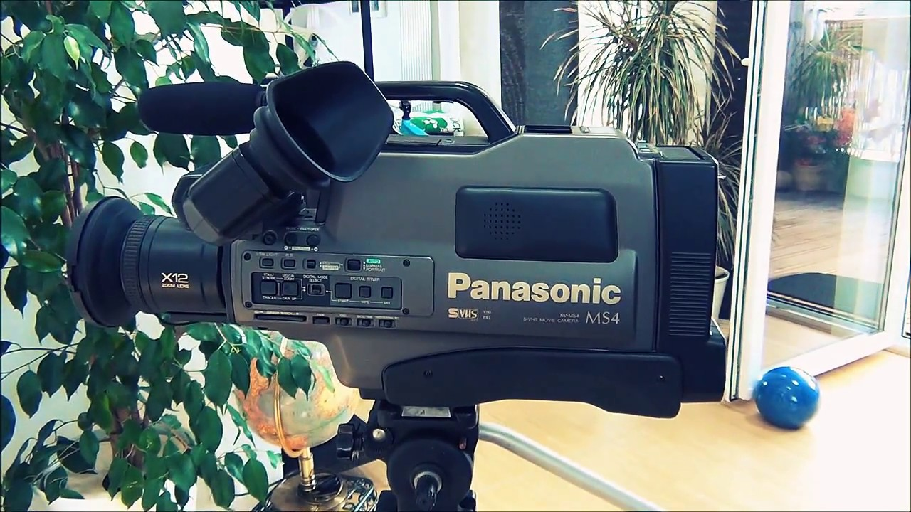 Retro Camera Panasonic Nv-ms4 S-vhs Camcorder Identical Ag 455