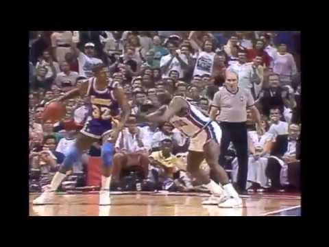 Magic Johnson - Game 2 1989 NBA Finals (18 pts., 9 ast., Hamstring Injury)