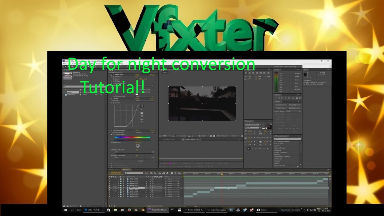 Day for night conversion-adobe after effects tutorial/vfxter youtube.