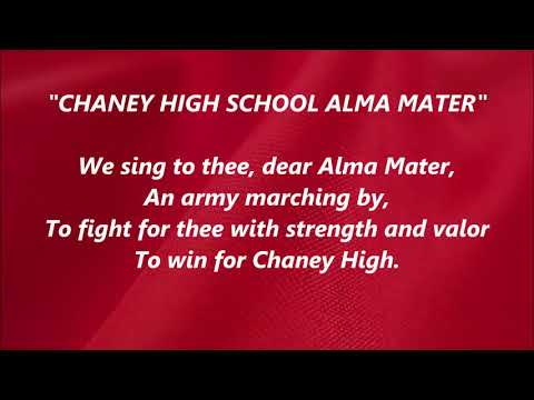 Chaney High School Alma Mater LYRICS WORDS BEST TOP Mahoning Youngstown Ohio SING ALONG SONGS