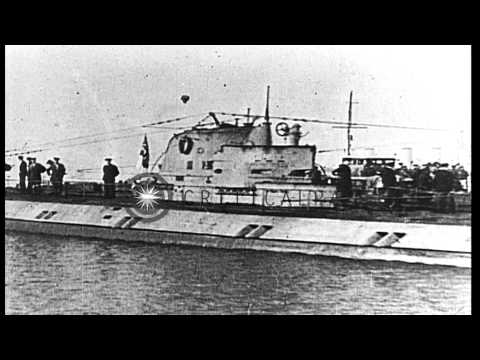 German naval surrender in 1918 as demanded by Armistice terms. HD Stock Footage