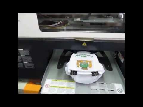 видео: Цифровая печать на бейсболке