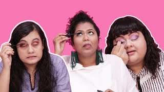 Women Put On Makeup Without Mirrors
