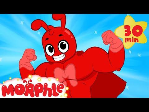 Superhero Morphle meets superhero Mr. Action! (Funny animation cartoon for kids)