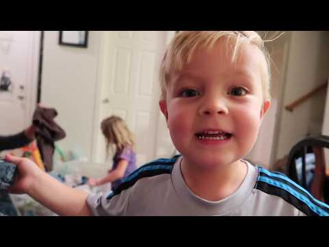 KIDS TRY ON BABY CLOTHES AND CAN'T GET THEM OFF! (HILARIOUS) DYCHES FAM