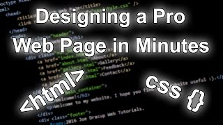 Designing a Professional Web Page in Minutes [HTML & CSS Tutorial]
