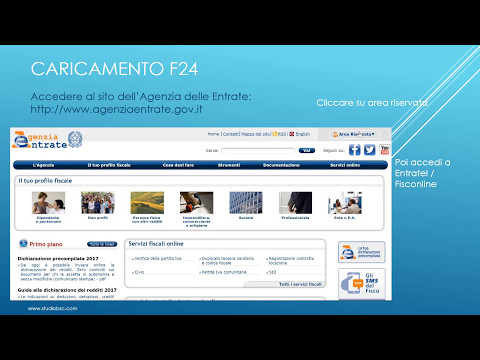 Pagamento modello f24 tramite agenzia delle entrate