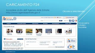 Tutorial sull'inserimento degli f24 sulla propria area riservata del sito dell'agenzia delle entrate per il pagamento.