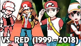 Evolution of Pokémon Trainer Red Epic Battles (1999 - 2018)