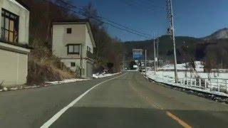 長野県飯山市から、野沢温泉スキー場を通って、戸狩スキー場までをドライブ。