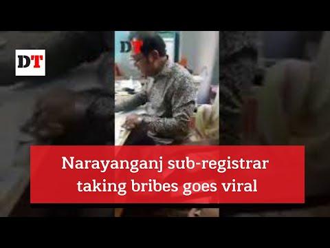 Narayanganj sub-registrar taking bribes goes viral