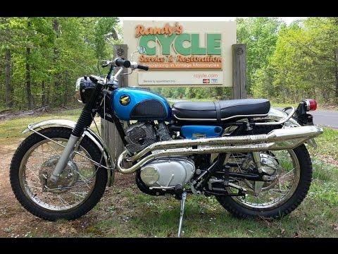 1967 Honda 305 Scrambler CL77 by Randy's Cycle Service & Restoration