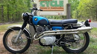 1967 Honda 305 Scrambler CL77 by Randy's Cycle Service & Restoration @ rcycle.com