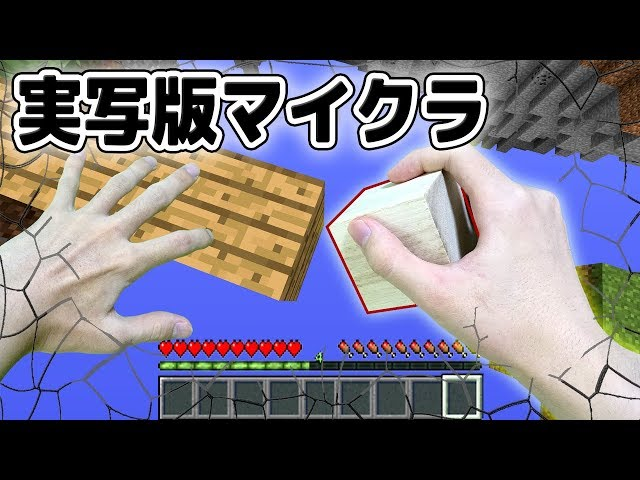【実写マイクラ】ゲーム中毒の男がマイクラ世界に入ったら...【PVP】