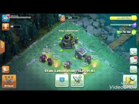 Clash of Clans :New Builder Hall troop stats!
