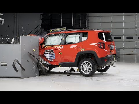 2020 Jeep Renegade Driver-side Small Overlap IIHS Crash Test