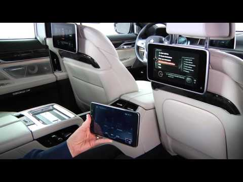 BMW: Use the Command Tablet to Operate Rear Entertainment Screens