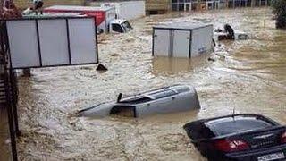 Потоп в Сочи после ливневых дождей наводнение  2015