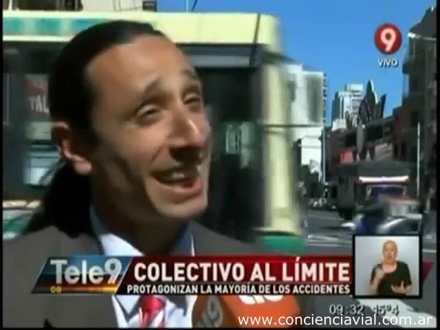 2014 - Canal 9 - Axel Dell' Olio entrevistado en informe sobre los colectiveros temerarios