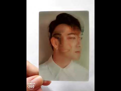 Card 3D Baekho - photobook Waiting Q NU'EST W 2017