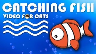 CAT GAMES ON SCREEN - Catching a Cute Fish. Entertainment Video for Cats to Watch.