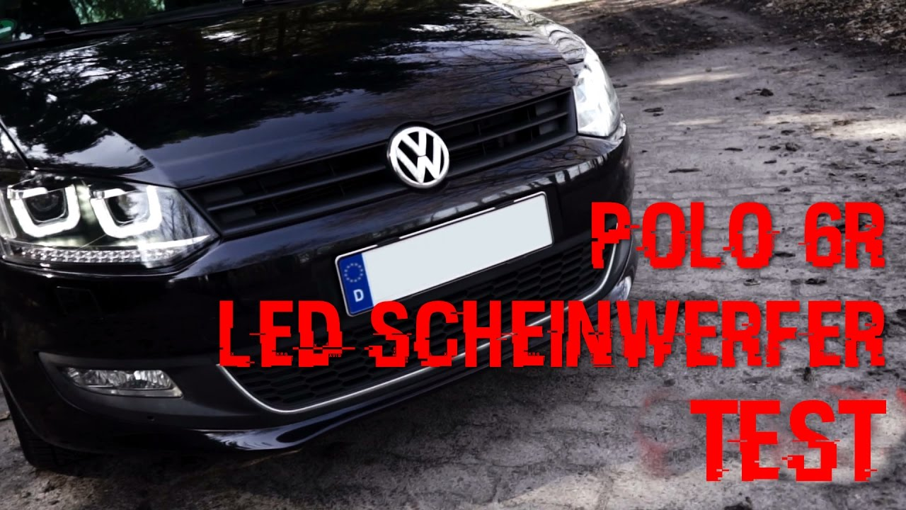 polo 6r led scheinwerfer utube test im dunkeln nachtfahrt youtube. Black Bedroom Furniture Sets. Home Design Ideas