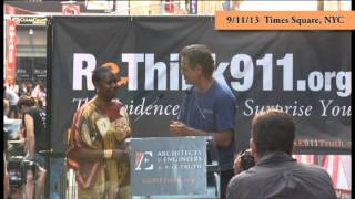 Cynthia McKinney speaks at Rethink911 Times Square Event 9-11-1