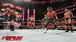 Orton, Ryback, Cesaro & Ziggler vs. Sheamus, Big Show, Owens & Rusev: Raw – 24. August 2015