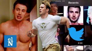 Chris Evans trendy en Twitter; muestra por error su masculinidad