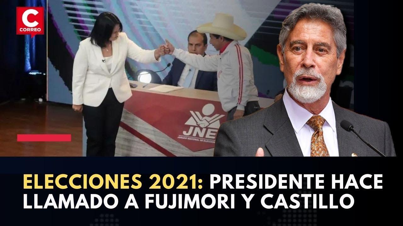 Elecciones 2021: Presidente Sagasti hace llamado a la calma