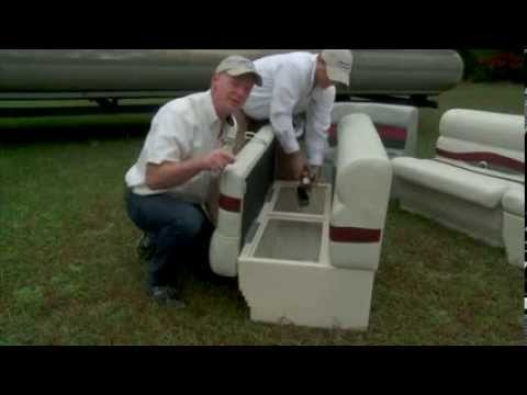 Pontoon Furniture Installation Video Iboats Com Youtube