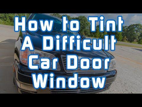 How to Tint a Difficult Car Door Window (2000 Lexus LS400)