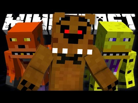 FIVE NIGHTS AT FREDDY'S - Minecraft 1.8 Horror Map!