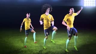 Celebrate in Brasilian style with Neymar Jr., David Luiz & Thiago Silva