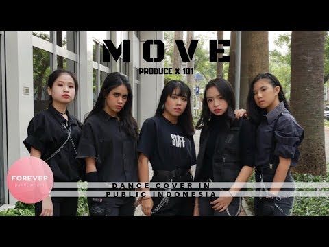 KPOP IN PUBLIC PRODUCE X 101 SIXC MOVE DANCE COVER in PUBLIC INDONESIA