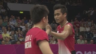 Ahmad & Natsir (INA) Win The Opening Badminton Mixed Doubles Match - London 2012 Olympics
