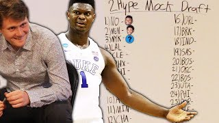 THE FIRST ANNUAL 2HYPE NBA MOCK DRAFT!